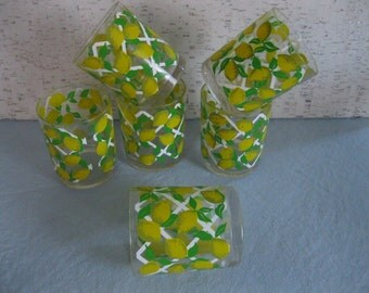 Acrylic Tumblers from 1970 / Set of six / Old-Fashioned or Lemonade