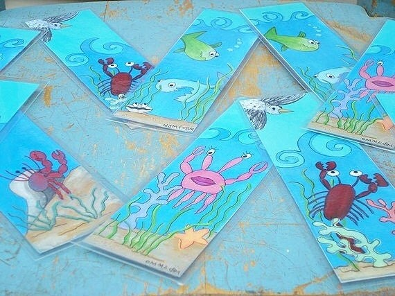 Bookmark-Under the Sea Party Favor