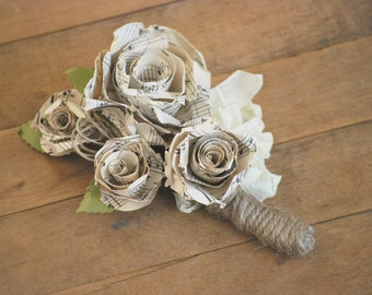 Old Sheet Music Corsage