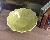 Vintage Woodfield Stubenville Leaves China Bowl handpainted and molded
