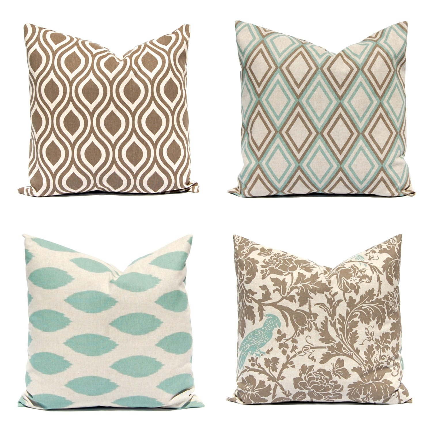 Couch pillow covers sofa pillows seafoam green pillows for Throw pillows for sectional sofa