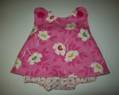 Baby Girl  Boutique Pinafore Set With Bloomers size 0-3 months Ready To Ship  Sample Sale