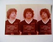 TALL FUGITIVE Color Photo Mug Shot Portland Oregon Booking Photo 1982  Comes with  Negative