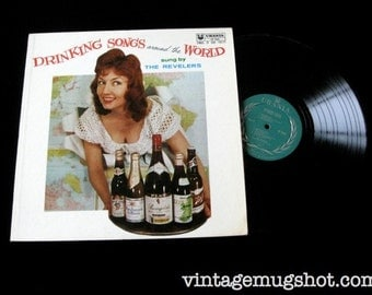 Drinking Songs Around The World Vintage Vinyl  Lp Sixties  Vinyl Record Urania Party