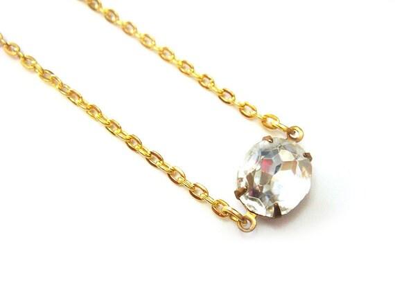 Rhinestone Necklace Bridal Wedding Bridesmaid Jewelry