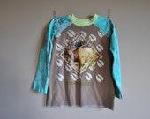 Raglan T Shirt Upcycled Size 6 7