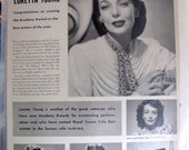 1948 Loretta Young Photo Royal Crown Cola Full Page Ad Crawford Temple Colbert