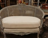 Carved Antique French Settee