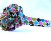Medium Roco Beat Fabric Dog Collar With Removable Collar Flower