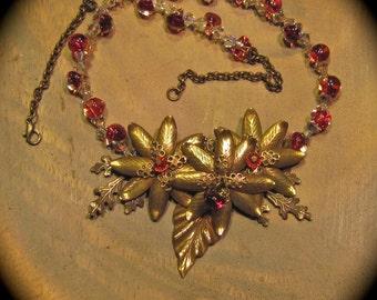 Brass 'N Glass - Vintaj Brass and Borosilicate Bead Necklace