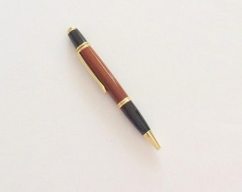 Wood Pen Hancrafted Ball Point Pen Handmade Pen Ball Point Twist Pen Bloodwood Pen Gift for Him Gift for Her Best Man Gift