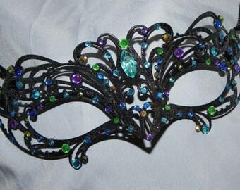 Petite Glittery Metallic Masquerade Mask