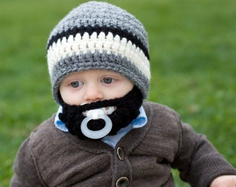 SALE!! Infant ULTIMATE Grey Bearded Beanie Mix