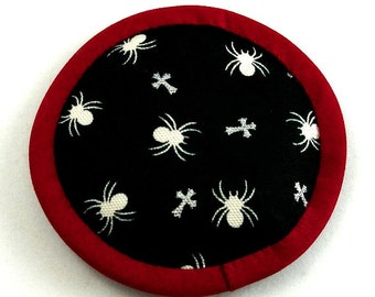Halloween Catnip Toy, Halloween Cat Toy, Spider Pillow, Catnip Spider, Spider Cat Toy, Creepy Crawlies, Goth Cat Toys, SPIDER CROSSING