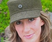 Unisex Army Green Military Style Cap