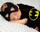 Batman cape and mask - newborn superhero photography-  newborn photography- up to 3 months