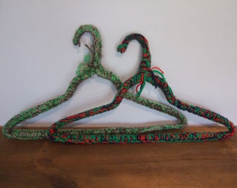 Chunky Crochet Vintage Wire Hangers