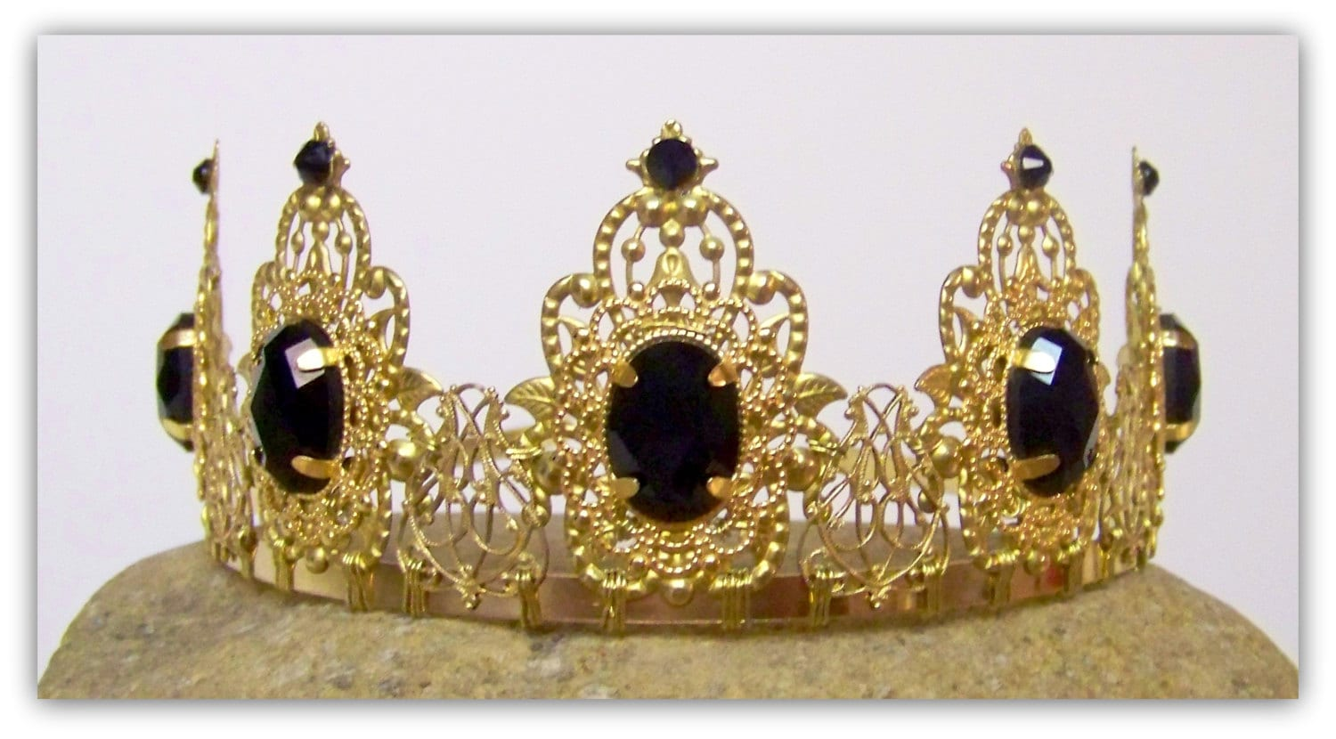 Medieval crown renaissance crown medieval jewelry crown for Mary queen of scots replica jewelry
