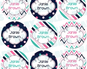 Daycare labels, round Waterproof Labels, Waterproof Stickers, Name Labels, Dishwasher Safe Daycare Labels, School Labels, Washable Labels