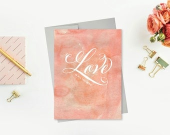 Love Is All You Need Watercolor Printable Card