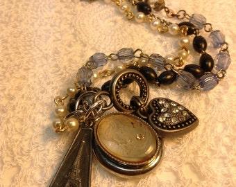 Vintage Inspired Paris French Charm Bracelet
