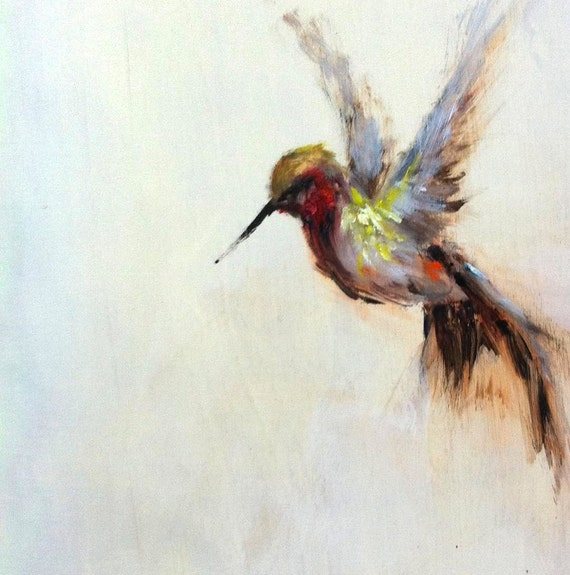items similar to original oil painting hummingbird on etsy