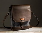 The Field Bag - Charcoal/Dark Chocolate