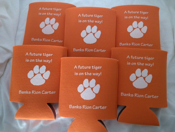 baby shower can coolers personalized lot of 12 to 25 a future tiger