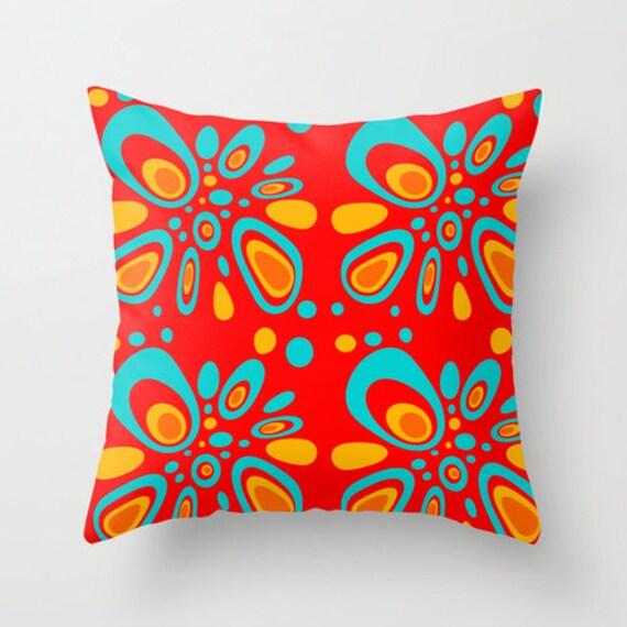 Midcentury Pillow : Items similar to Mid Century Modern, Home Decor, Living Room Decor, Mid Century, Retro, Cushion ...