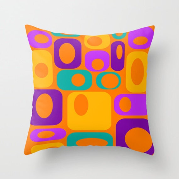 Items similar to Modern Throw Pillow, Mid Century Modern Pillow, Mod Pillow,Cool Pillow, Mod ...