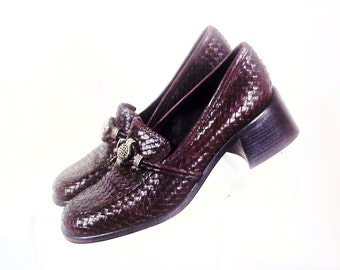 SALE!! Brighton Brown Leather Loafers Shoes, 7-1/2N Shoes, Exc Condition