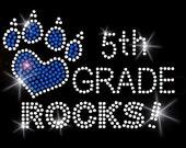 ALL GRADES ROCK - 1ST, 2ND, 3RD, 4TH, 5TH School Rhinestone Teacher Gift Shirt - all grades!