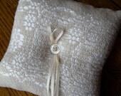 Ring Bearer Pillow, Wedding Ring Pillow, Handwoven Wedding Ring Cushion, Wedding Bearer Pillow, Hand Woven Ring Pillow