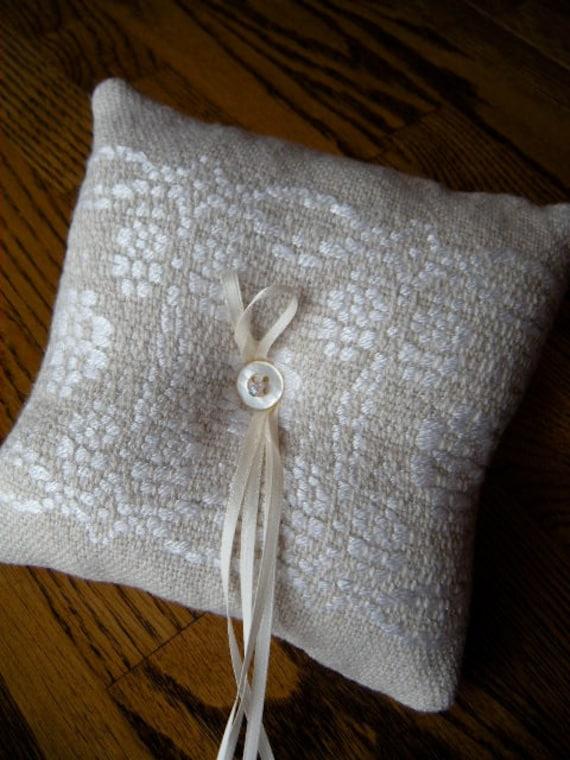Ring Bearer Pillow Wedding Ring Pillow By ThistleRoseWeaving