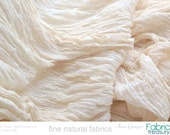 """Soft Cotton Crepe Fabric. Dyeable ORGANIC COTTON Fabric. Cotton Crepe 40s. Womens dress fabric. 24"""" crinkled width / 48"""" stretched width."""