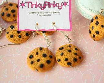 Choco chip cookies earrings