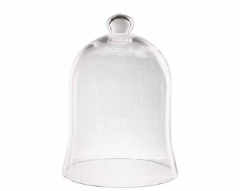 "Glass Garden Cloche Bell Jar 7"" Display Dome"