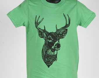 Ready To Ship!!!! Deer on  American Apparel T Shirt