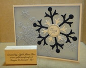 Hand-Made Holiday/Winter Thank You Card