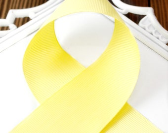 Lemon Yellow 3/8 inch - Choose from 1-50 yd - Grosgrain Ribbon - Hairbow Supplies, Etc.