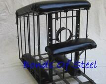 Spanking Bench Rolling Cage BDSM Bonds of Steel Mature Bondage