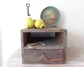 Vintage Wooden Curiosity Cupboard/Cash Drawer – Rustic Storage – PICK UP ONLY