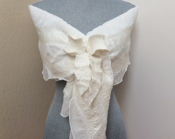 Ivory Shawl Wrap Bridal Shrug Bolero - Bridal Accessories - Weddings - Bow
