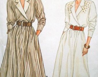 Vintage Mock Wrap Dress Blouson Bodice Sewing Pattern Butterick 5893 Bust 36 38 40 Size 14 16 18 UNCUT