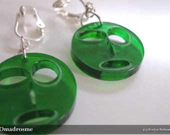 Modus Paras (Mood Faces) Earrings - Green