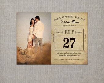 """Calendar Save the Date Magnets, 4x5.5, Save the Date Magnets, the """"Calista 3"""""""
