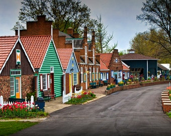 Dutch Shops on Windmill Island in Holland Michigan a Taste of the Netherlands No.185 - A Fine Art Landscape Photograph