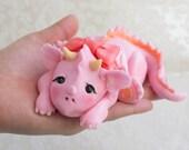 Baby Dragon Fondant Cake Topper ( 1 Dragon, 1 Birthday Message Plate)