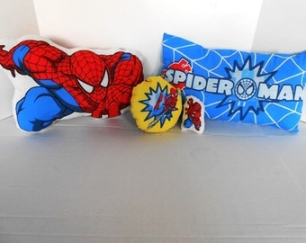 Disney Character Pillow Sets Spider Man includes 3 pillows and 1 pocket pal offered by kams-store .com