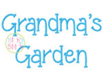 "Grandma's Garden Embroidery Font 1.00"", 1.50"", 2.00"", & 2.50"" INSTANT DOWNLOAD now available"